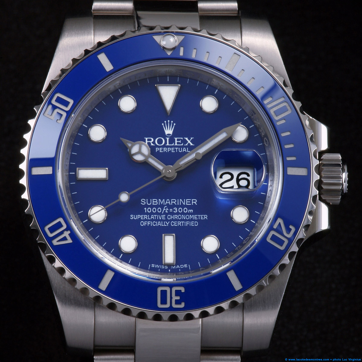 La Cote des Montres : Photo - Rolex Submariner Date or blanc
