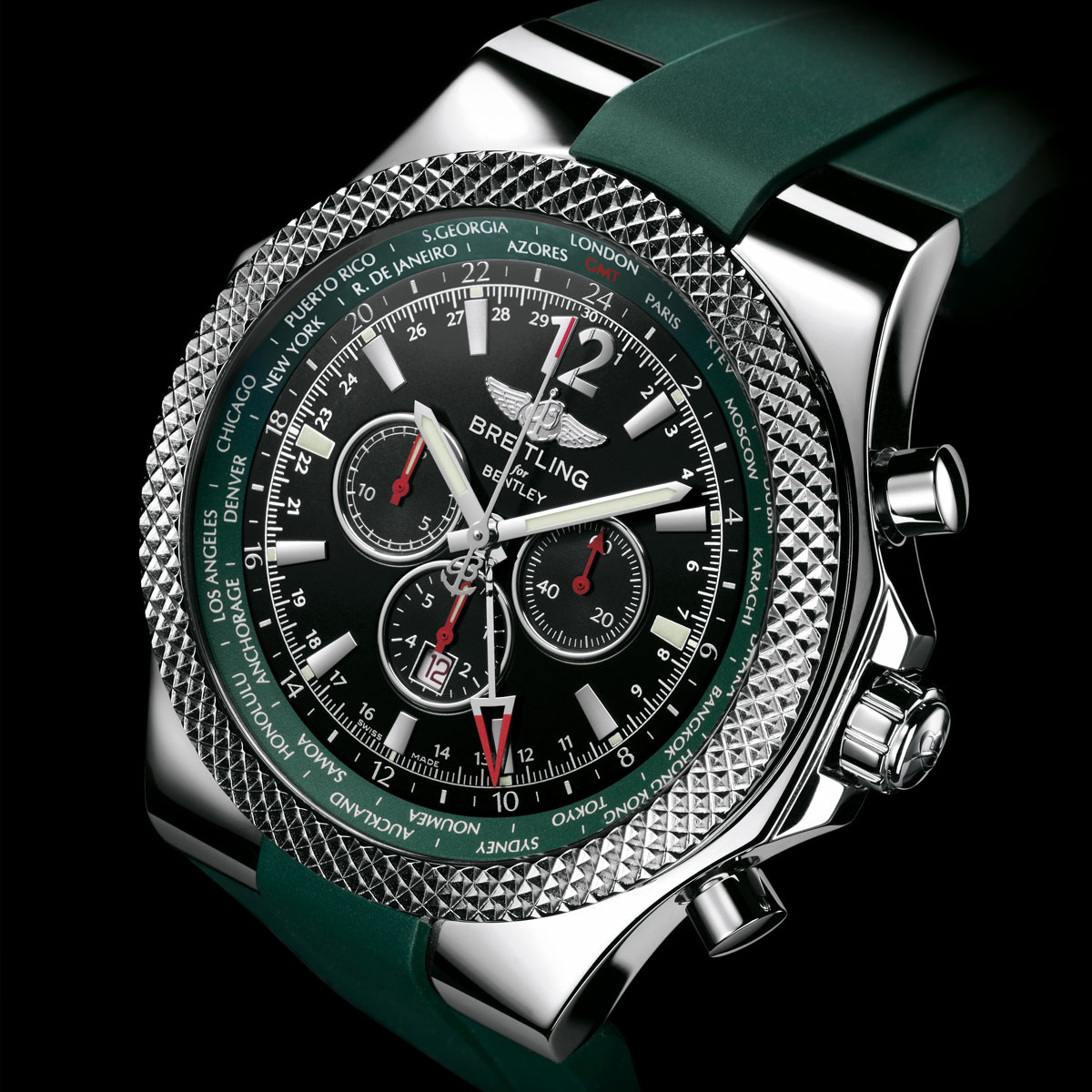 breitling gmt watches chronograph bentley pre owned