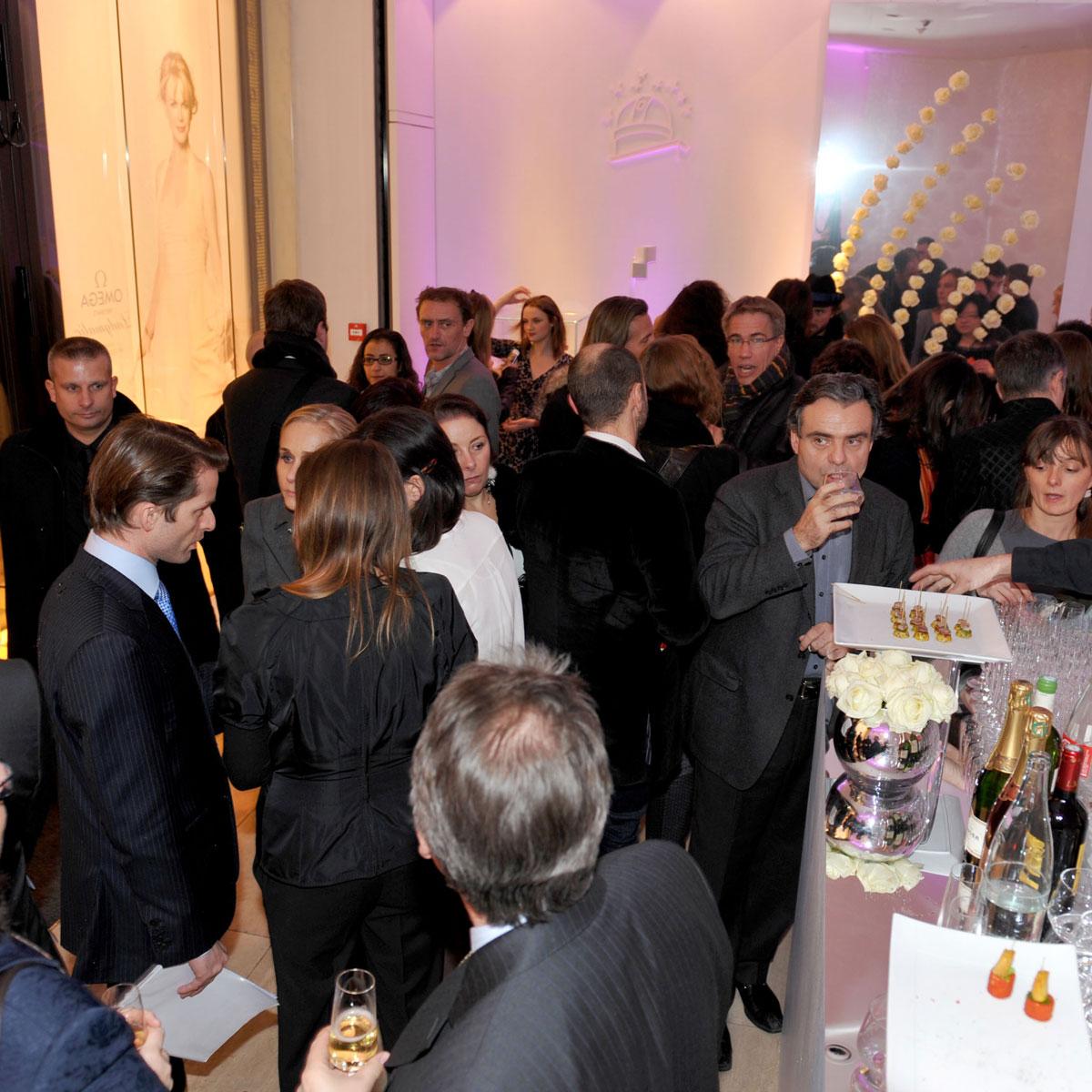 La Cote des Montres : Photo - Omega présente sa nouvelle ligne Ladymatic à Paris