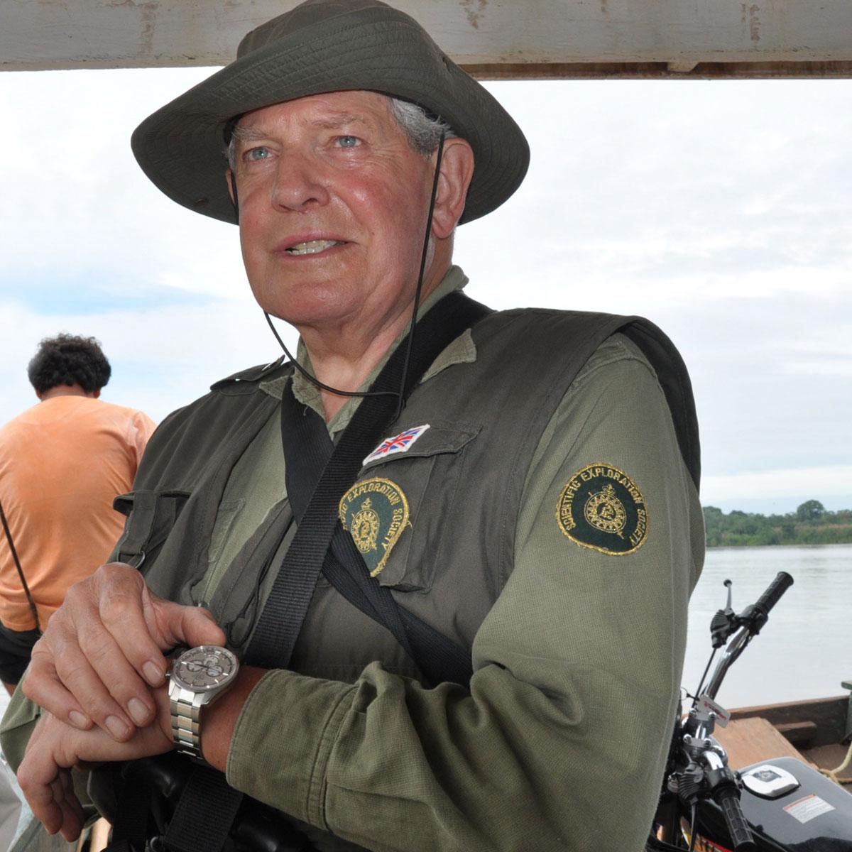 La Cote des Montres : Photo - Le Colonel John  Blashford-Snell, ambassadeur Zenith