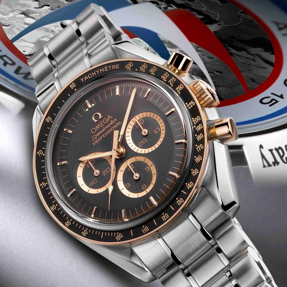 La Cote des Montres : Photo - Omega Speedmaster Moonwatch « Apollo 15 » 40e Anniversaire Édition Limitée