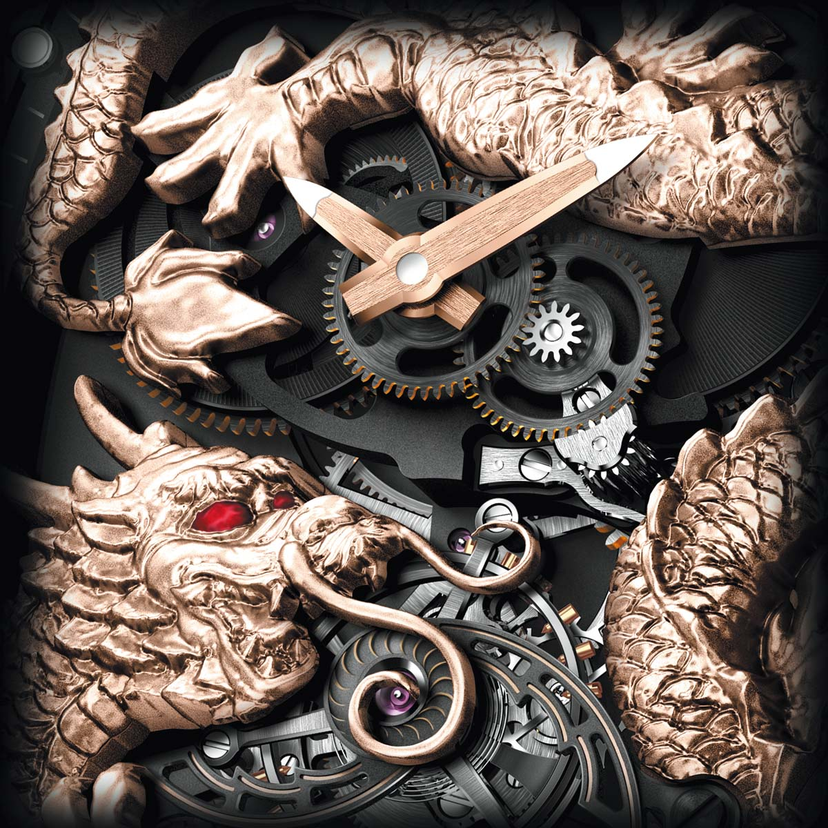 La Cote des Montres : Photo - Richard Mille Tourbillon RM 057 Dragon - Jackie Chan