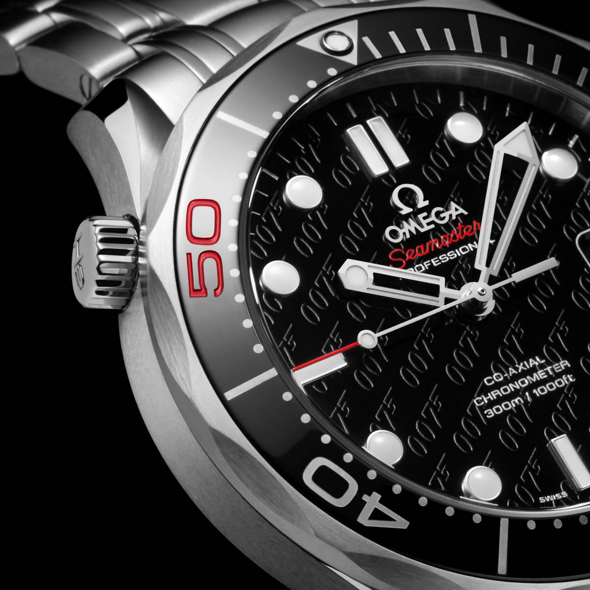 La Cote des Montres : Photo - Omega Seamaster Co-Axial 300 M Série Limitée James Bond 007, 50e Anniversaire