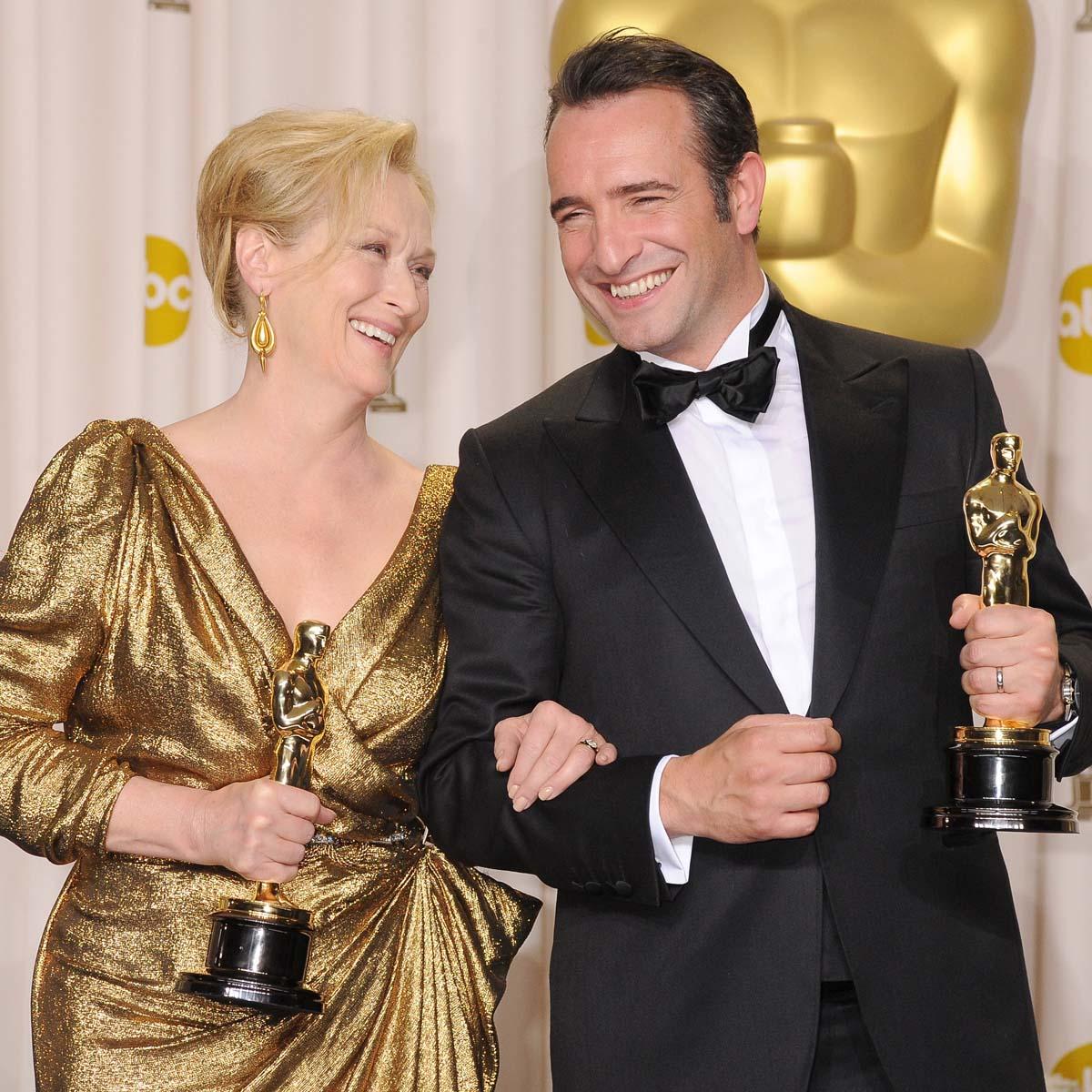 La Cote des Montres : Photo - Pour remporter l'Oscar,  Jean Dujardin porte sa montre Memovox Tribute to deep sea de Jaeger-LeCoultre