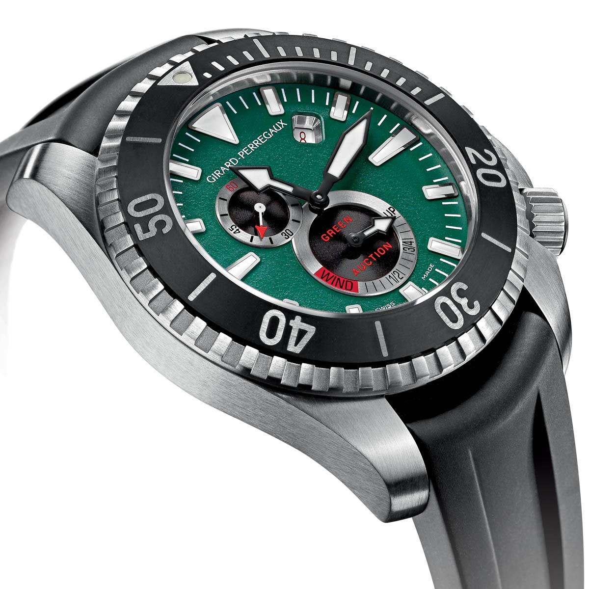The Watch Quote: Photo - Girard-Perregaux Sea Hawk Green Auction 1000