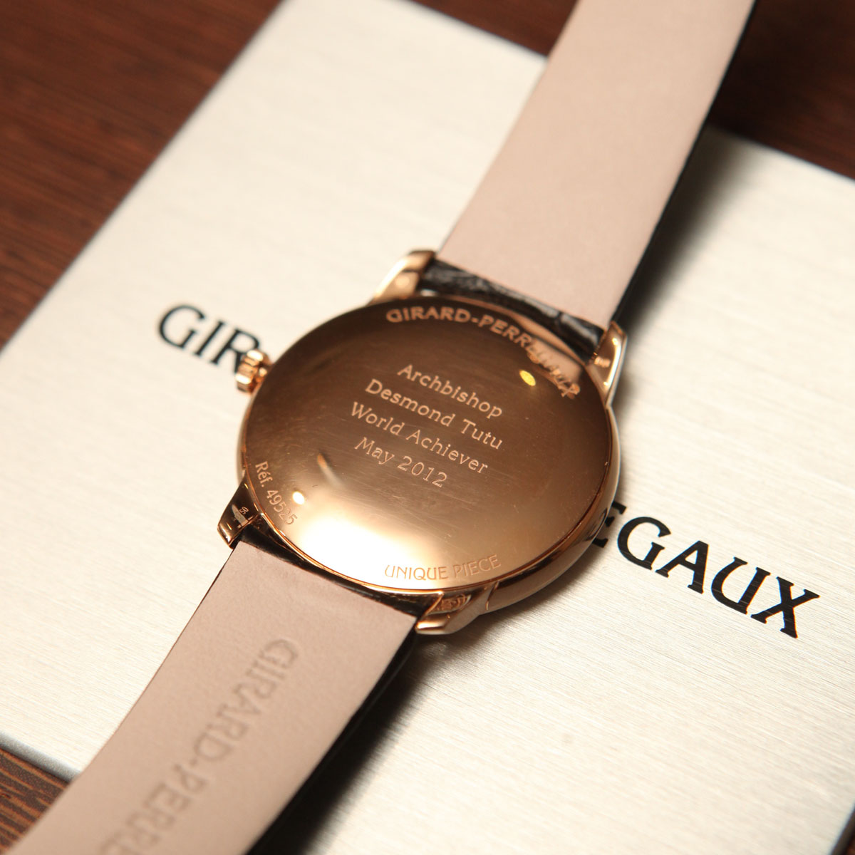 The Watch Quote: Photo - Girard-Perregaux honors Archbishop Desmond Tutu