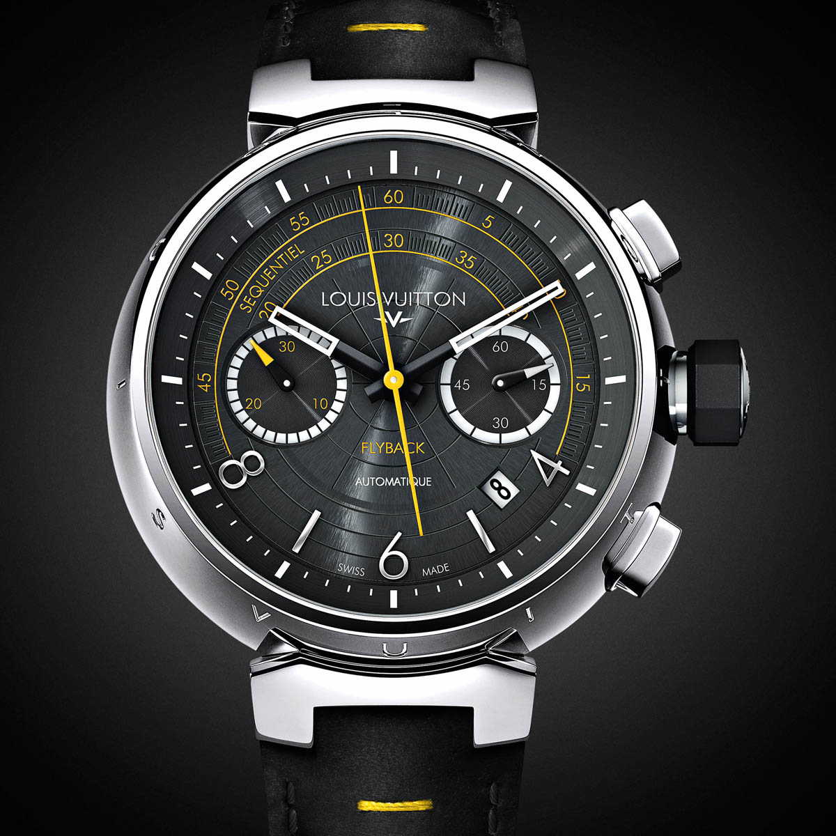 "The Watch Quote: Photo - Louis Vuitton Tambour ""Fly Back� Automatic Chronograph  Volez!"