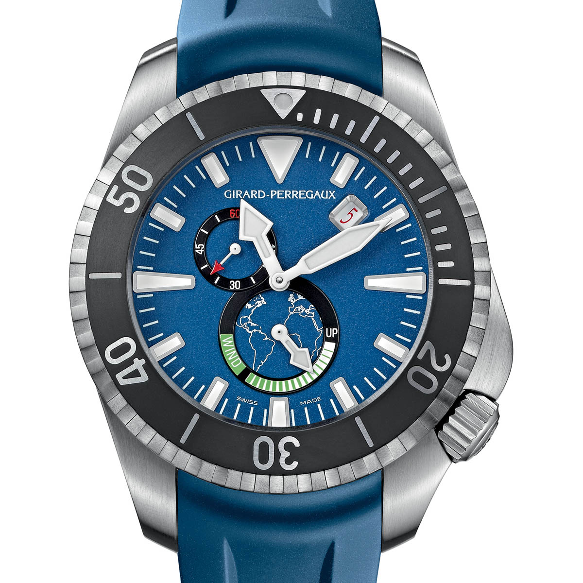La Cote des Montres : Photo - Girard-Perregaux Sea Hawk Pro 1000 «Grand Bleu»