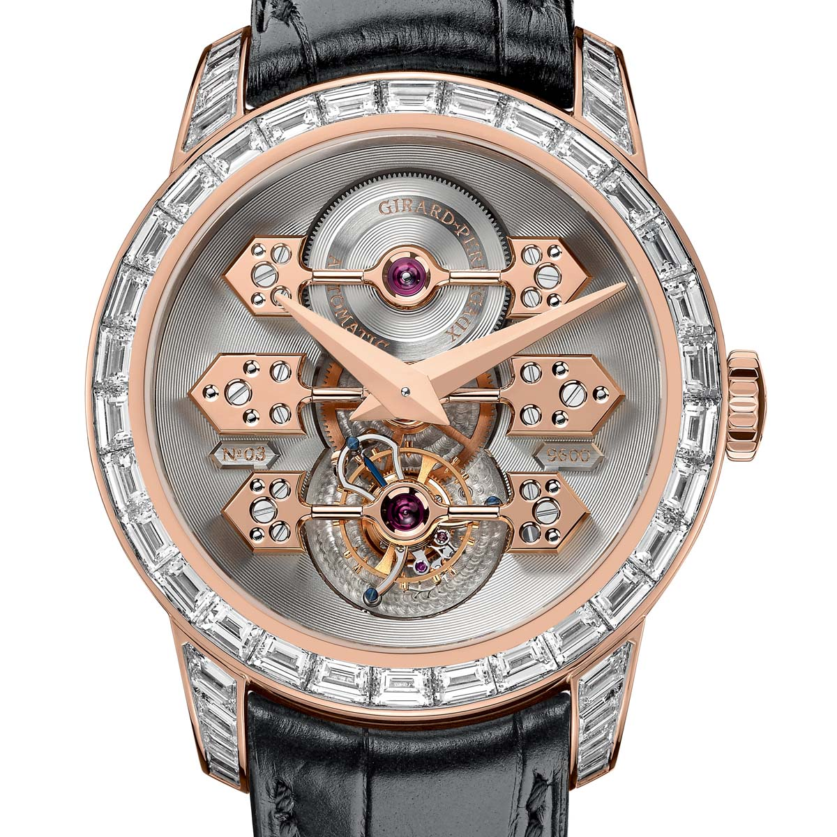 The Watch Quote: Photo - Girard-Perregaux Tourbillon with Three Gold Bridges Diamond-Set
