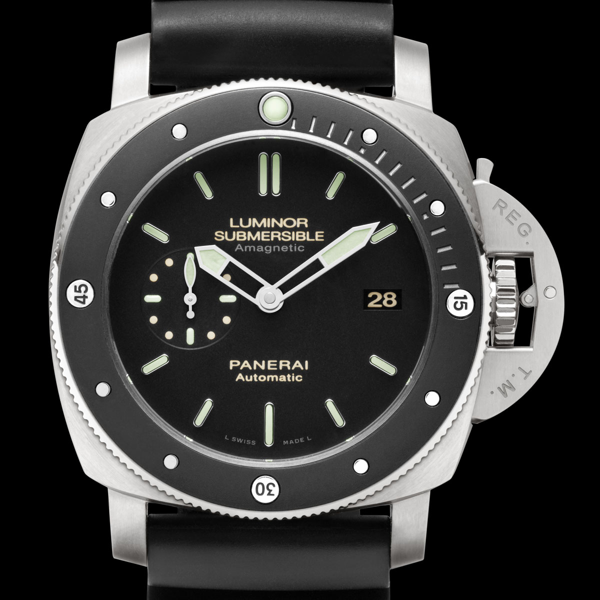 La Cote des Montres : Photo - Panerai Luminor Submersible 1950 Amagnetic 3 Days Automatic Titanio – 47 MM