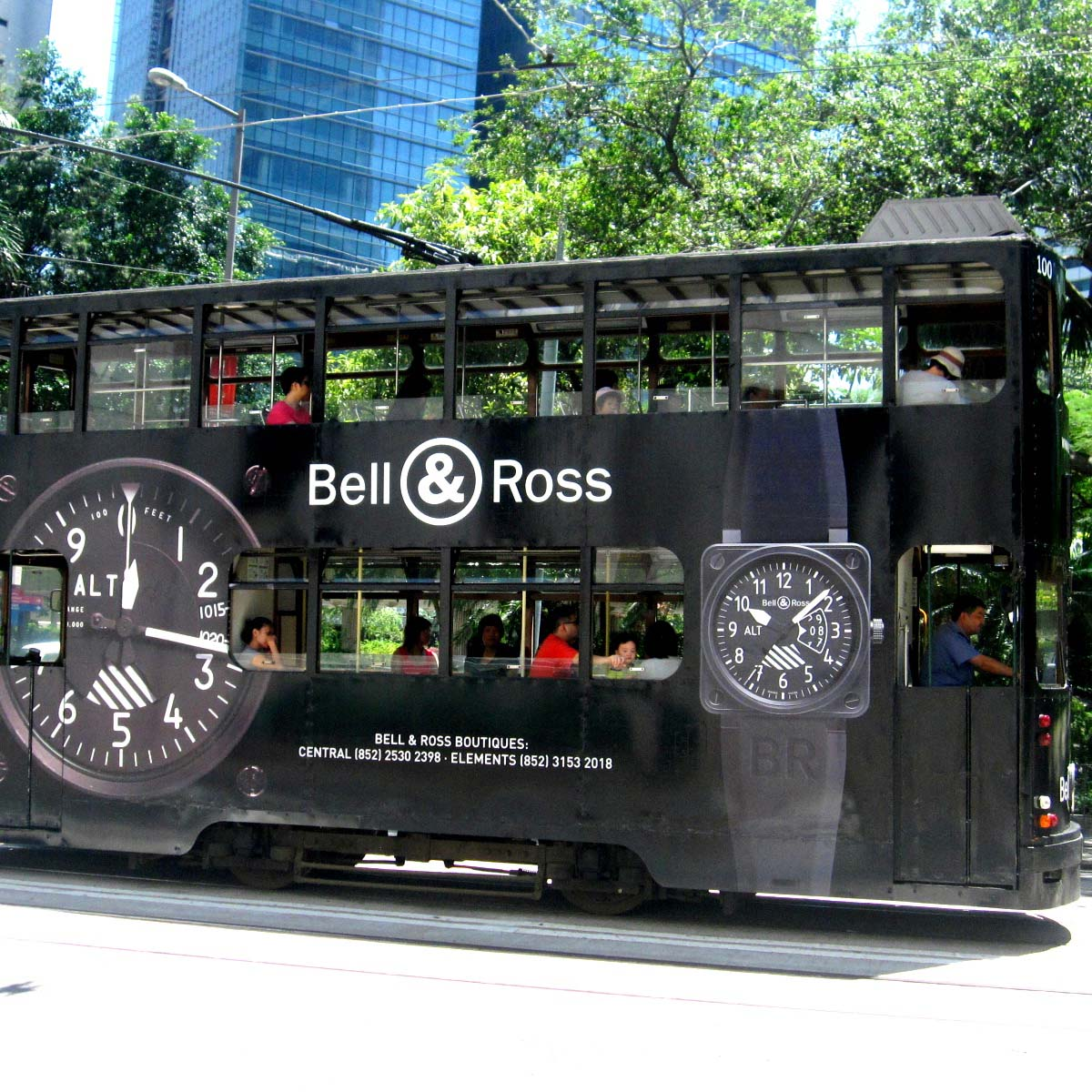 The Watch Quote: Photo - Trams in Hong Kong... all dressed in Bell