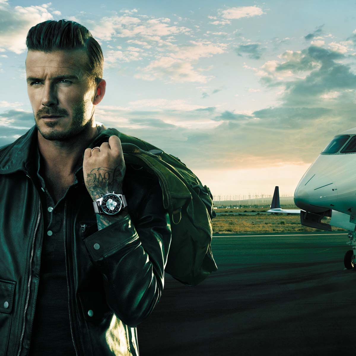 The Watch Quote: Photo - David Beckham travels with Breitling