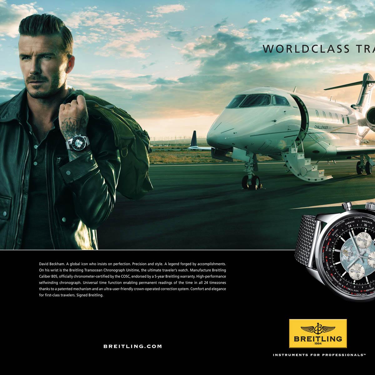 Bien-aimé La Cote des Montres : Photo - David Beckham voyage en Breitling UL47