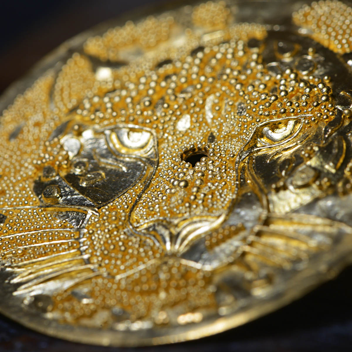 The Watch Quote: Photo - Rotonde de Cartier 42 mm watch, panther with granulation
