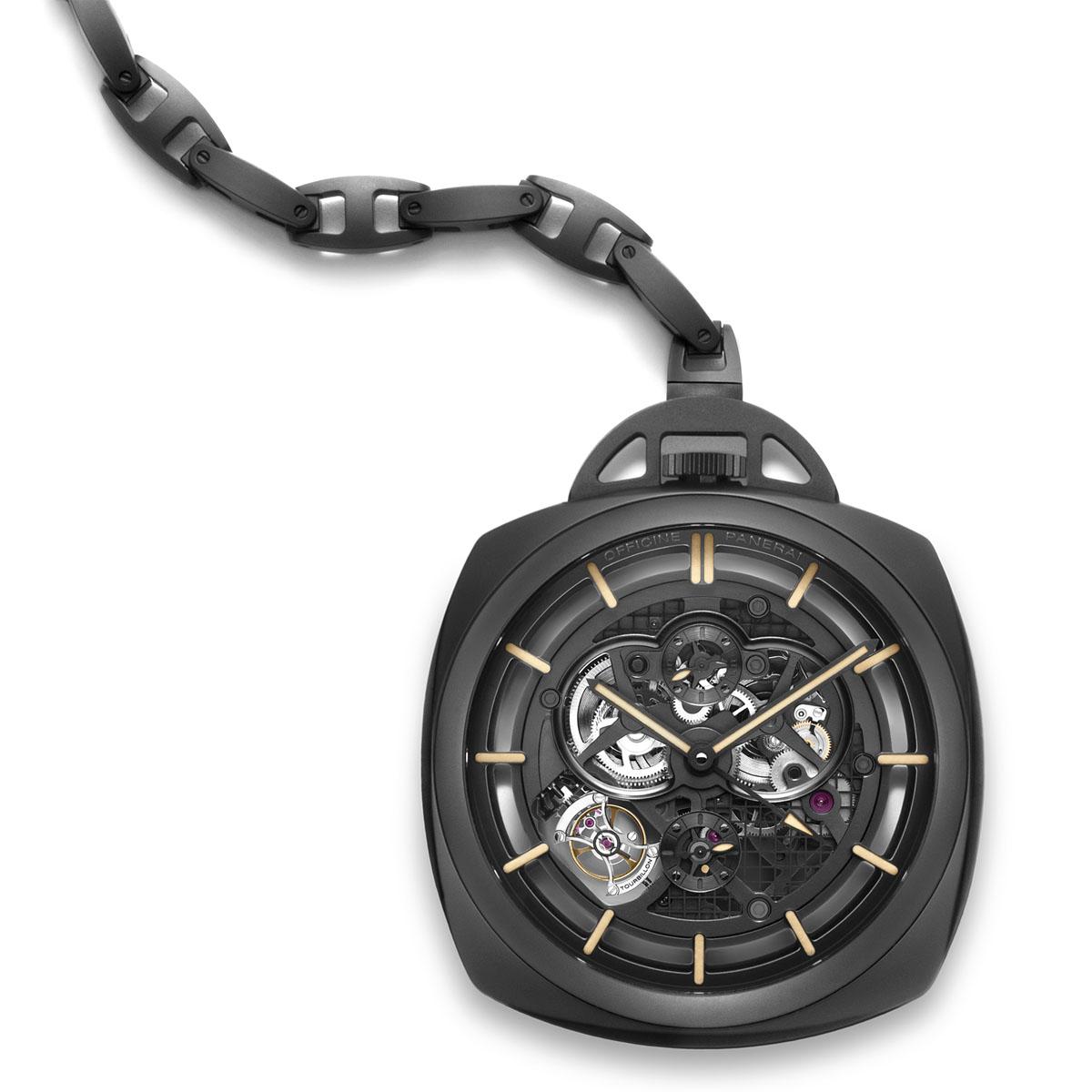 The Watch Quote: Photo - Panerai Pocket Watch Tourbillon Squelette GMT Ceramica - 59mm