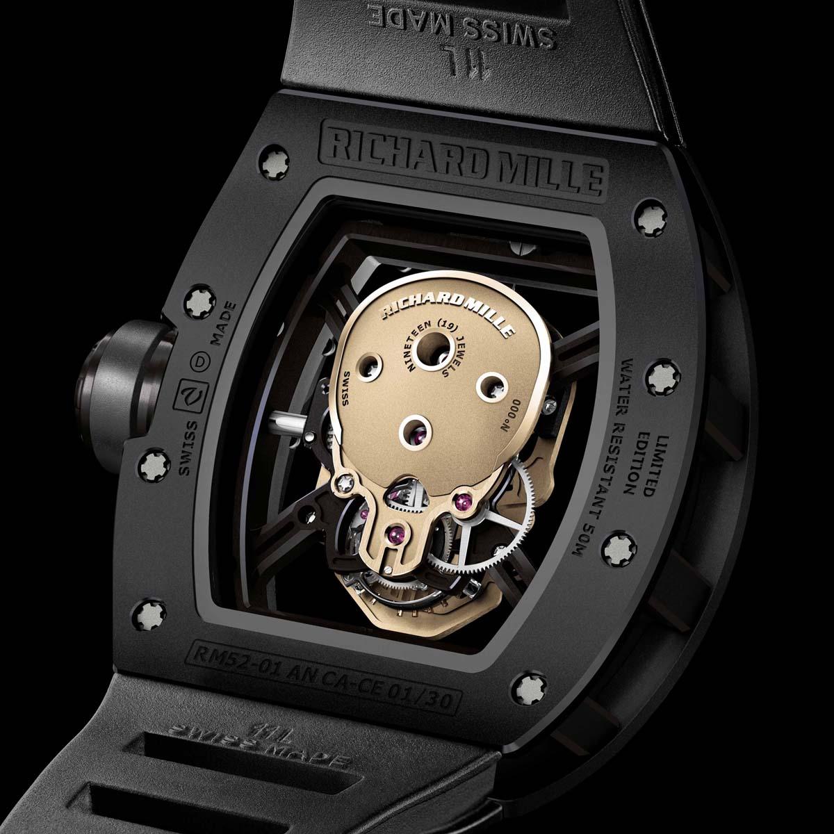 La Cote des Montres : Photo - Richard Mille Tourbillon RM 52-01 Skull Nano-céramique