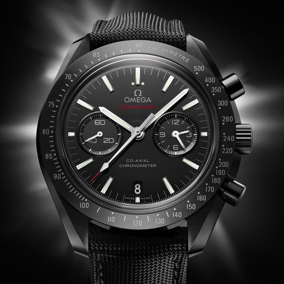 La Cote des Montres : Photo - Omega Speedmaster en céramique noire