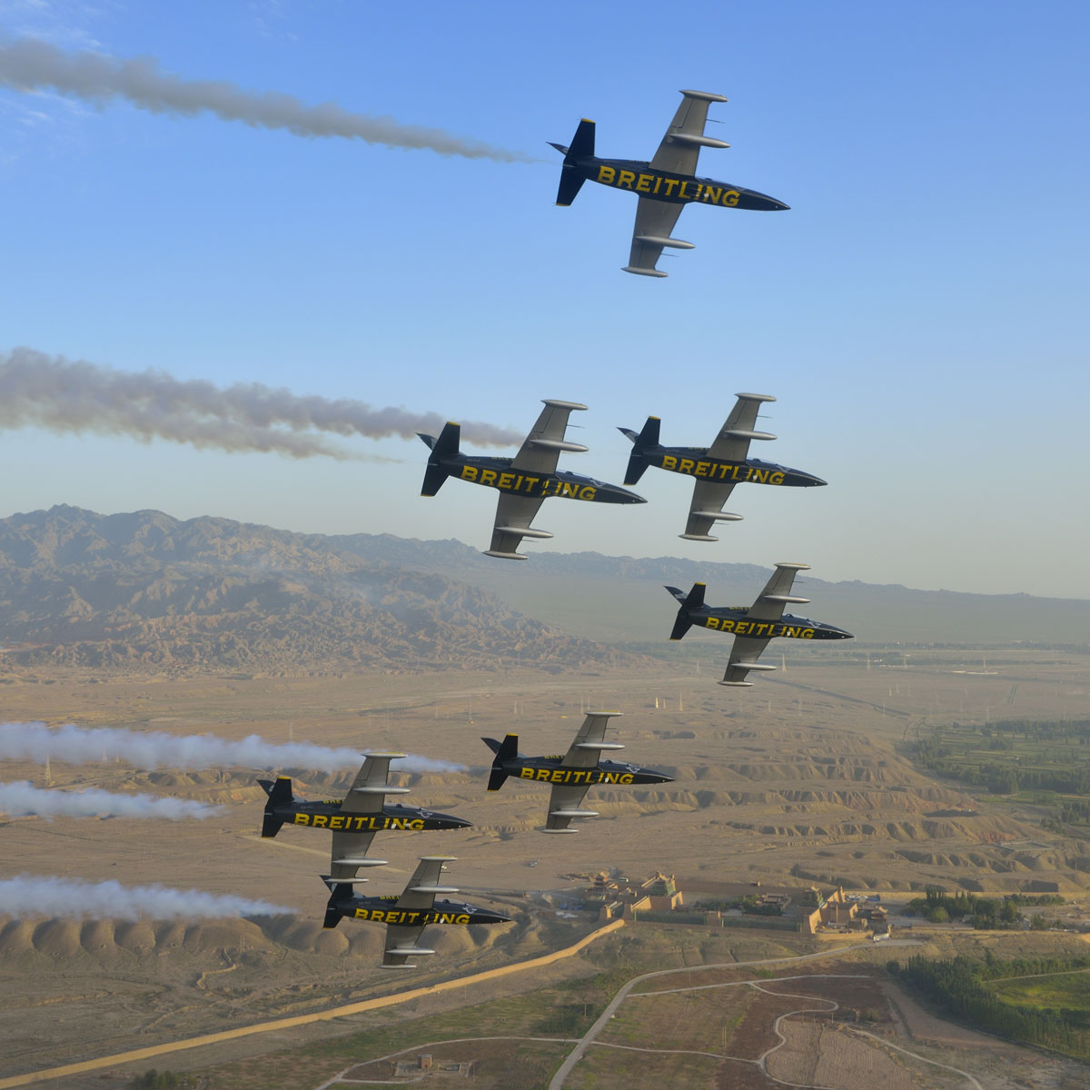 The Watch Quote: Photo - The Breitling Jet team soars over the Great Wall of China