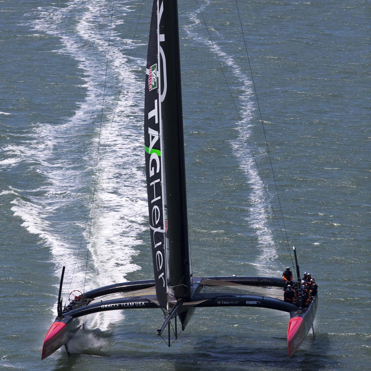 La Cote des Montres : Photo - TAG Heuer partenaire officiel d'Oracle Team USA
