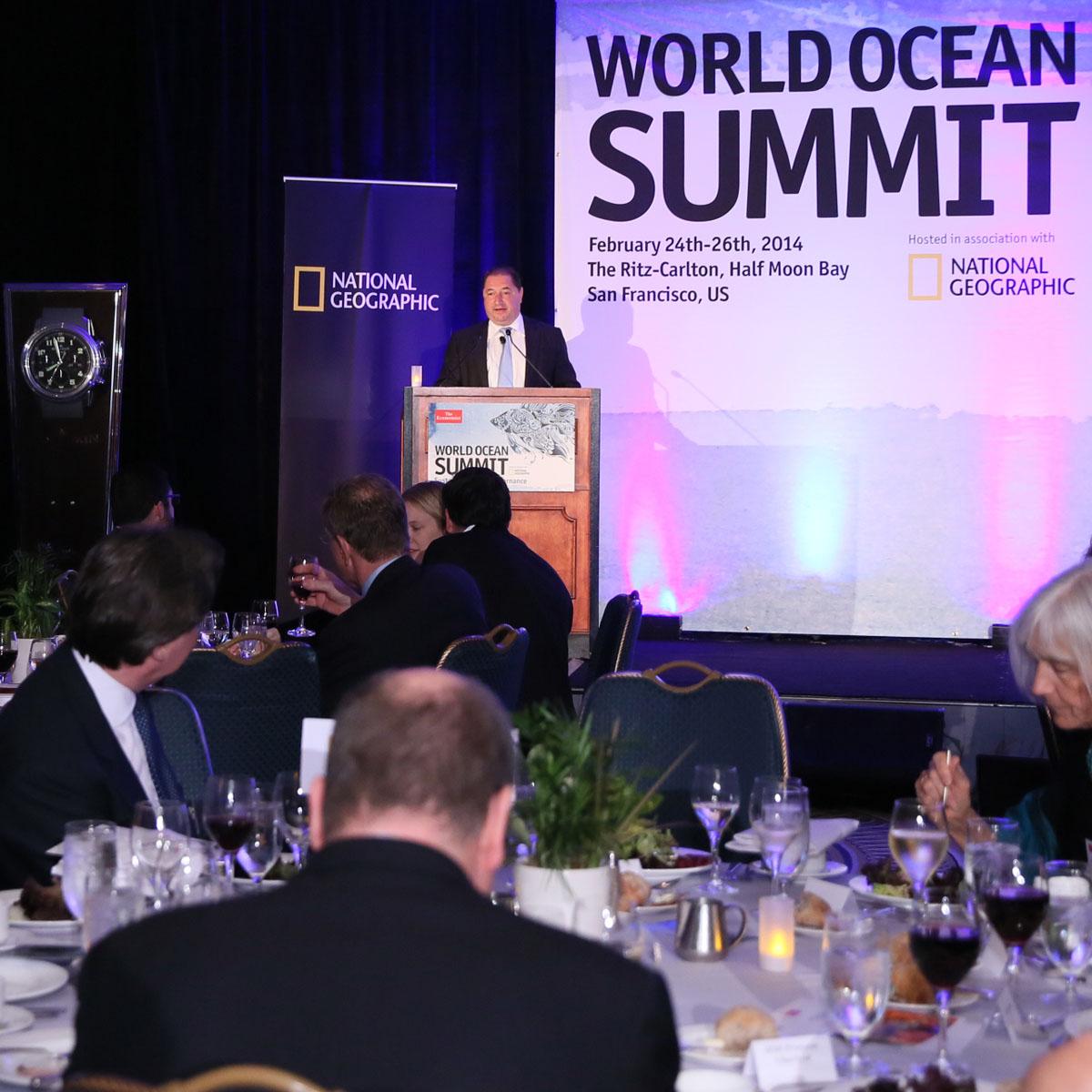 La Cote des Montres : Photo - Blancpain au World Ocean Summit 2014