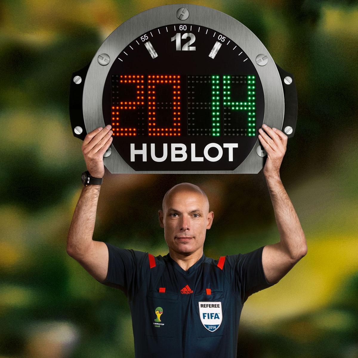 La Cote des Montres : Photo - Hublot : nouveau design du panneau d'arbitre de la Coupe du Monde