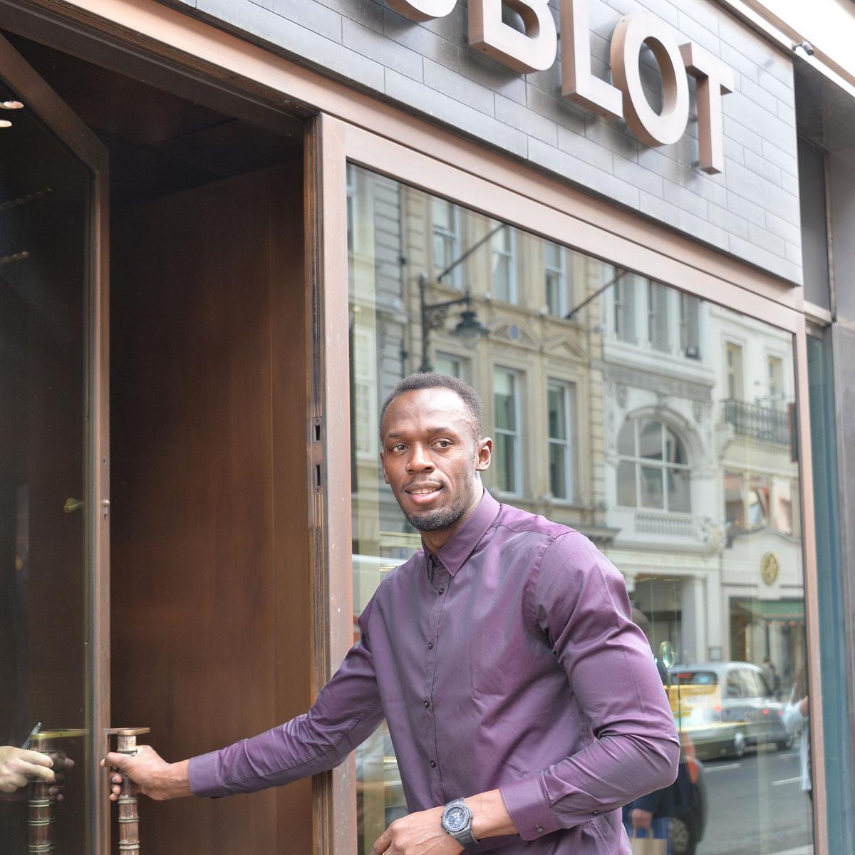 La Cote des Montres : Photo - Lancement à la Boutique Hublot de Londres sur New Bond Street, en présence de l'homme le plus rapide de la planète, Usain Bolt !
