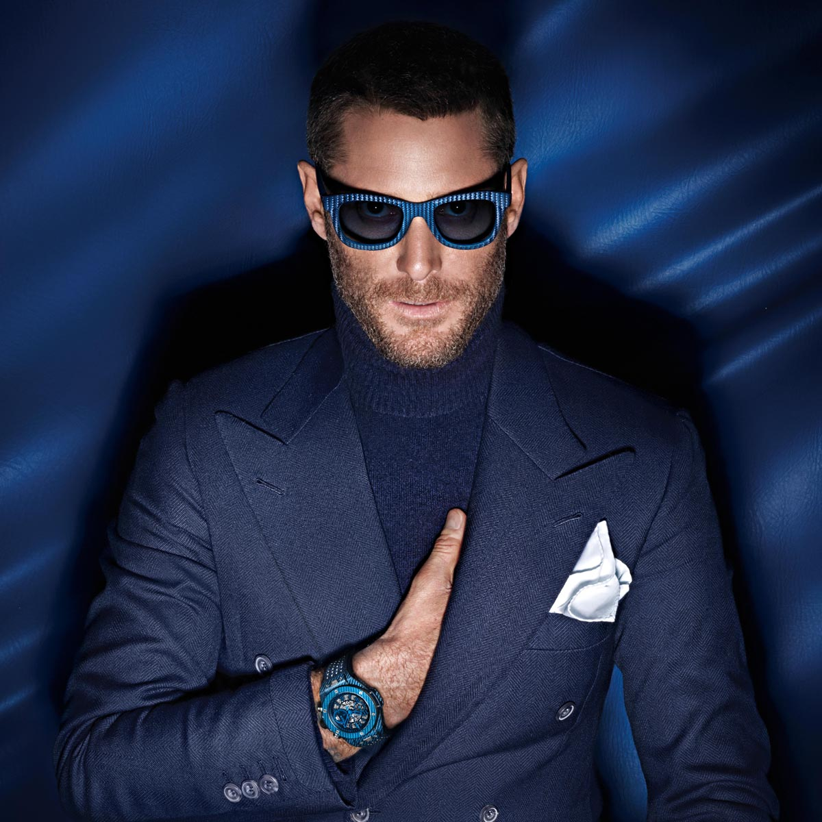 La Cote des Montres : Photo - Hublot voit la vie en bleu à Paris - Big Bang Unico Italia Independent