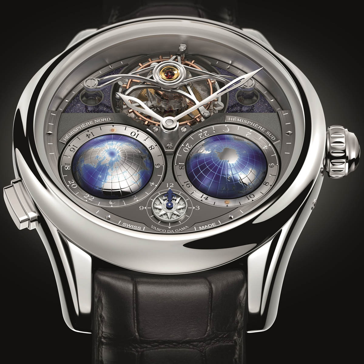 La Cote des Montres : Photo - Montblanc Villeret Collection – Tourbillon Cylindrique NightSky Geosphères