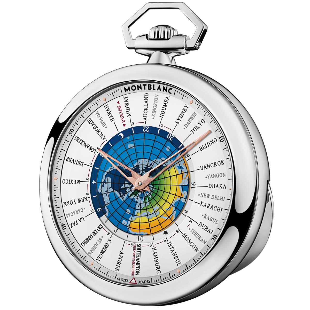 La Cote des Montres : Photo - Montblanc 4810 110 Orbis Terrarum Pocket Watch Édition Limitée