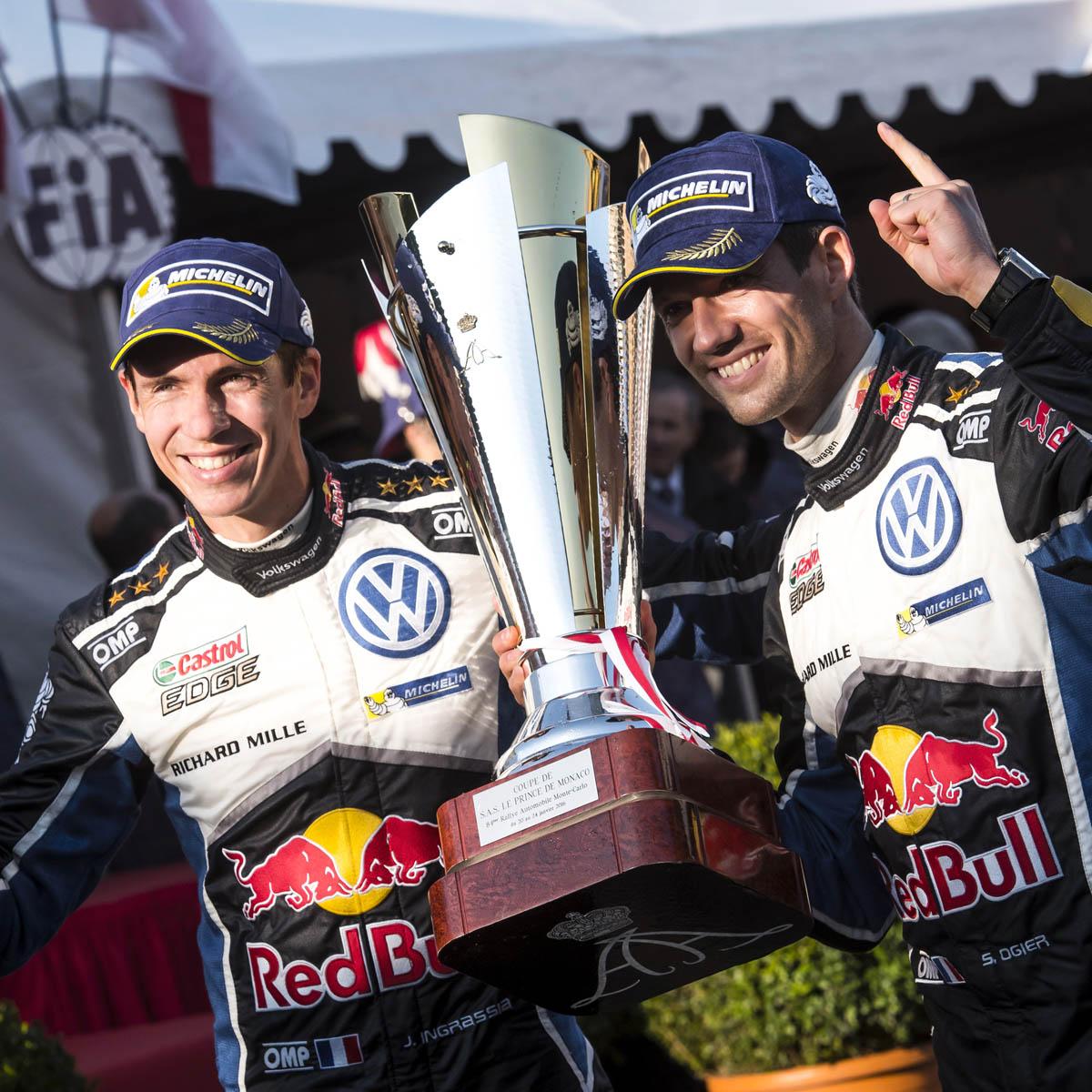 La Cote des Montres : Photo - Bravo à Sébastien Ogier, roi du Rallye de Monte-Carlo