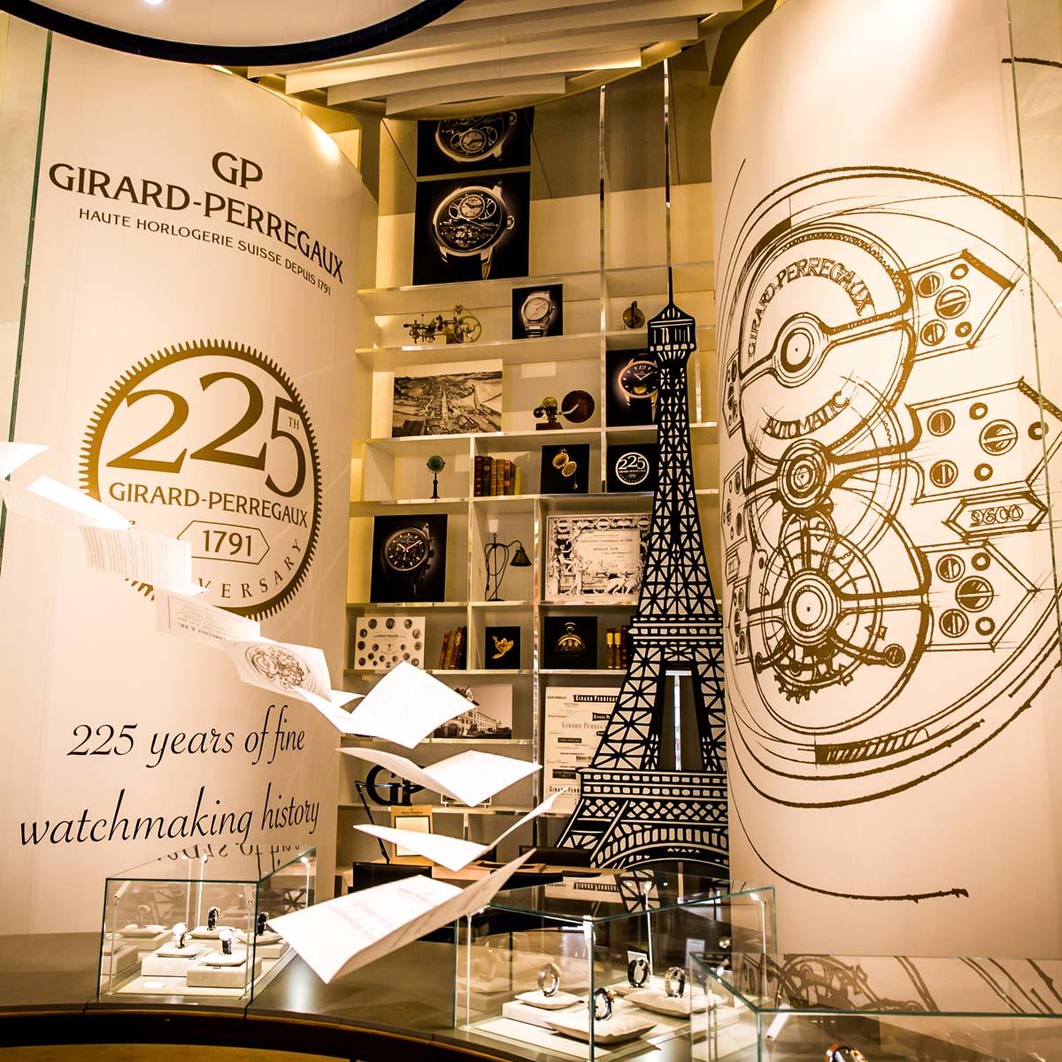 La Cote des Montres : Photo - Girard-Perregaux présente une exposition exclusive au Printemps du Louvre