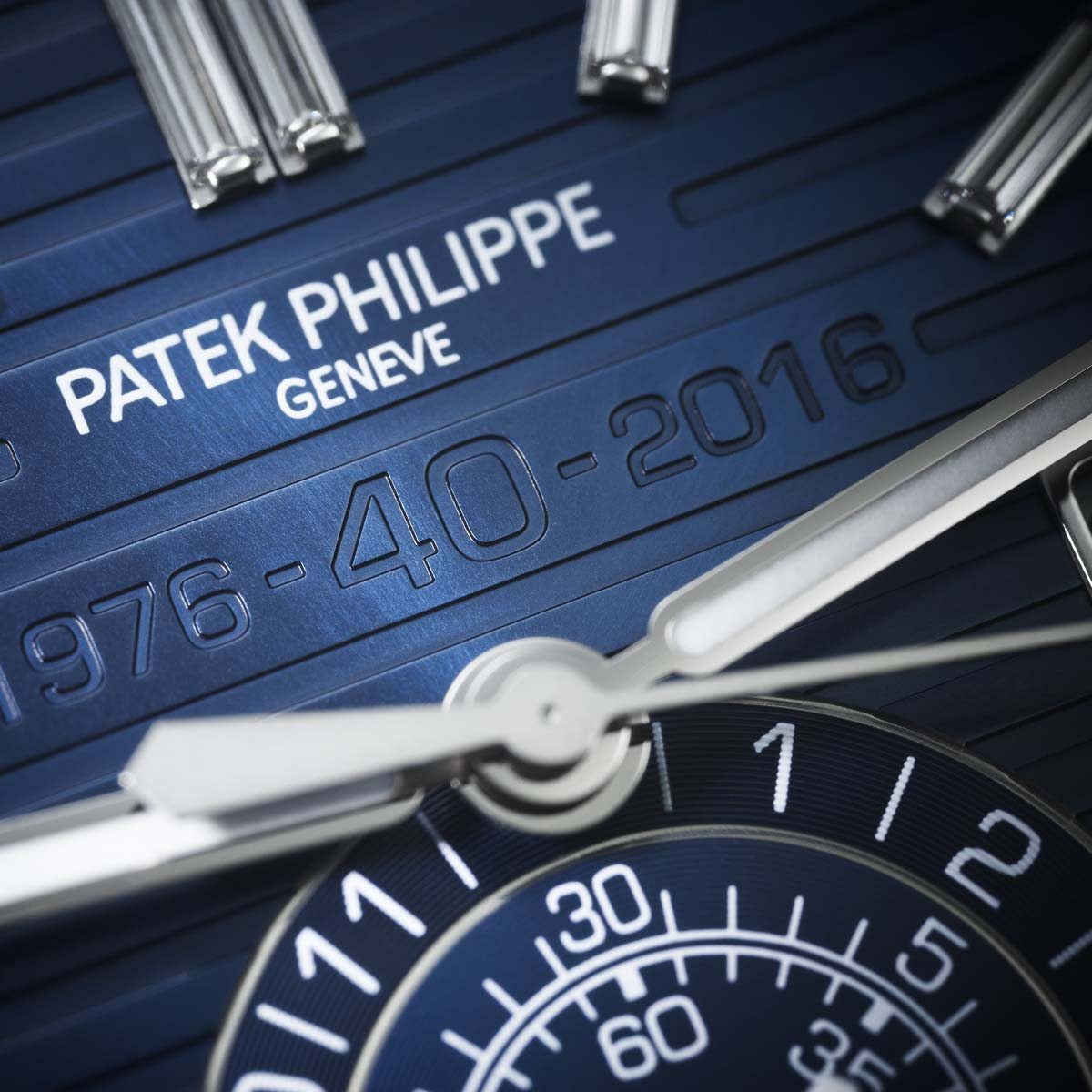 The Watch Quote: Photo - Patek Philippe Nautilus Chronograph Ref. 5976/1G 40th Anniversary Limited Edition