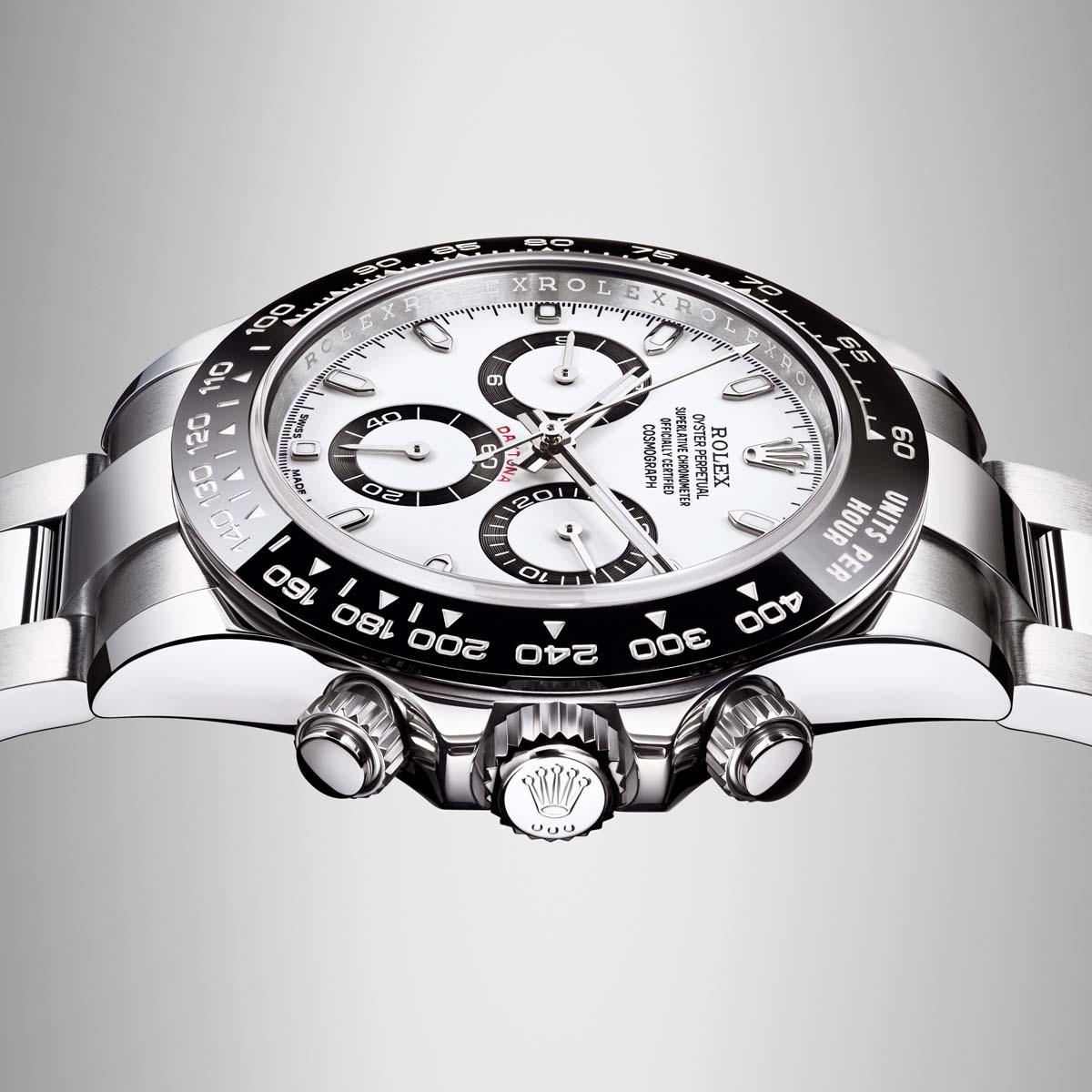 La Cote des Montres : Photo - Exposition Rolex Daytona chez Bucherer