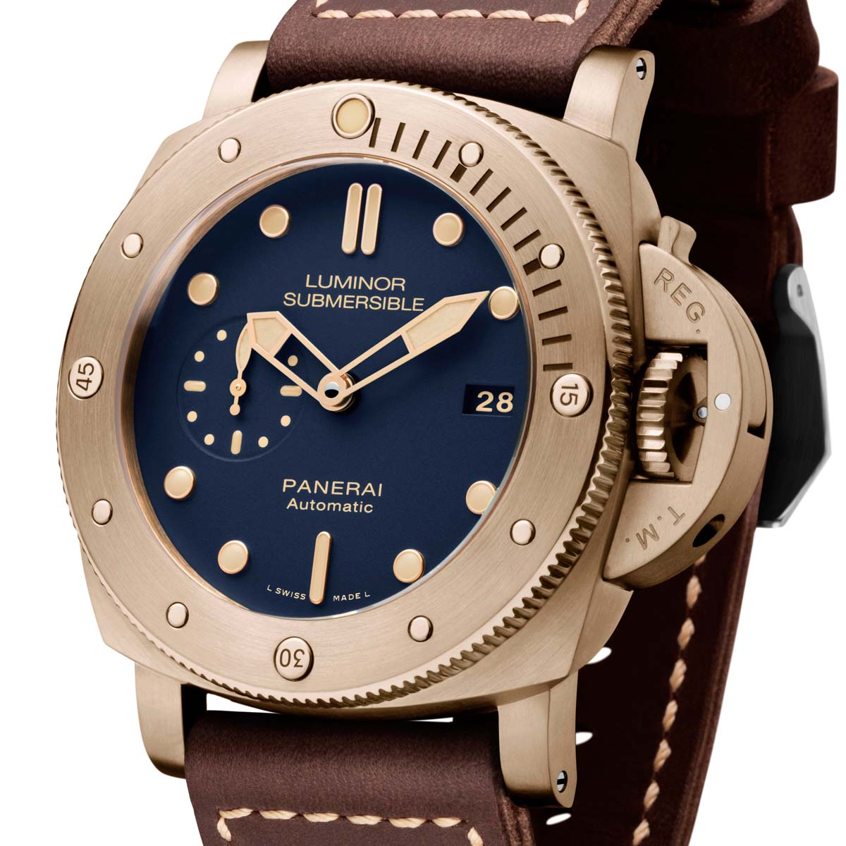 La Cote des Montres : Photo - Panerai Luminor Submersible 1950 3 Days Automatic Bronzo – 47mm