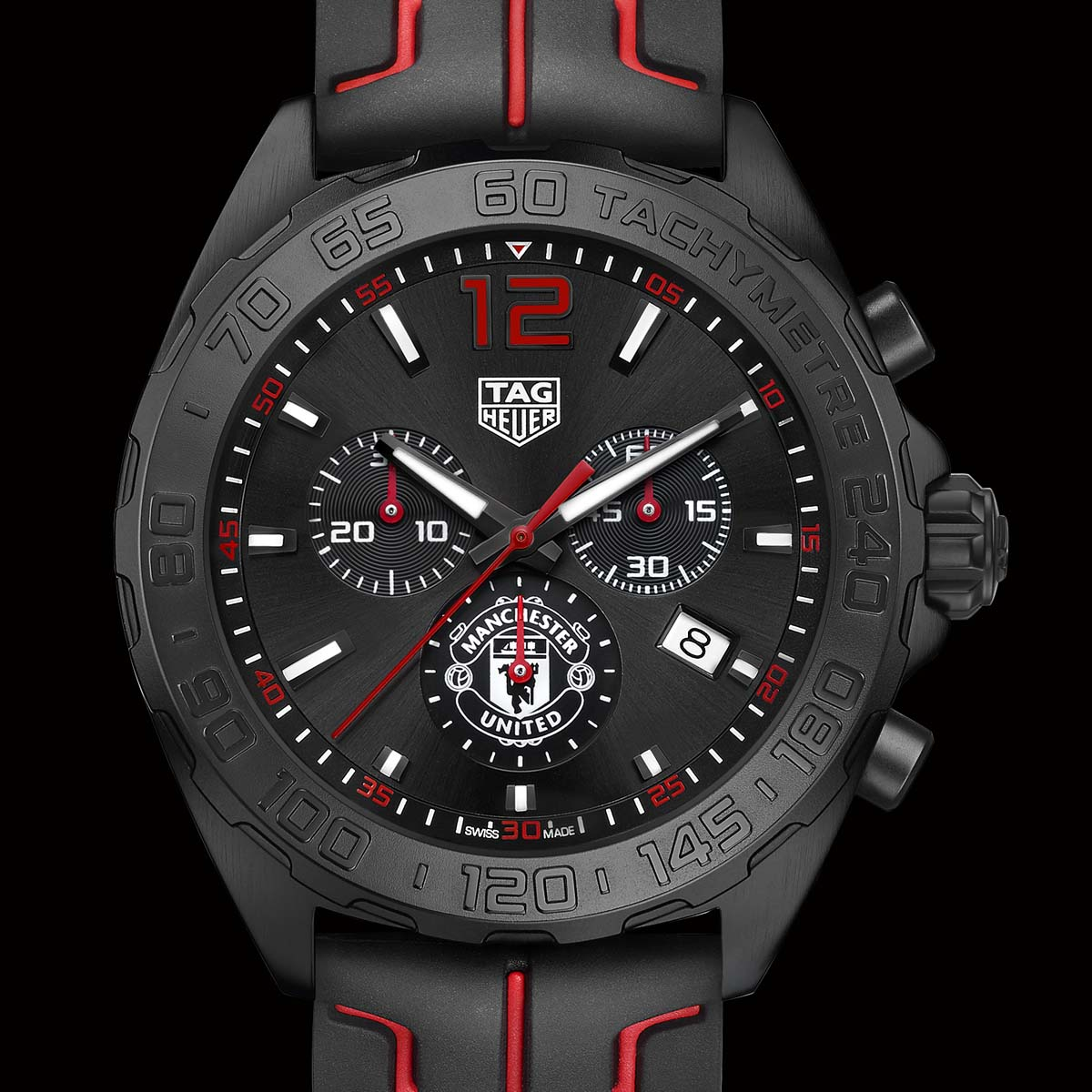 La Cote des Montres : Photo - TAG Heuer FORMULA 1 Chrono Manchester United Special Edition