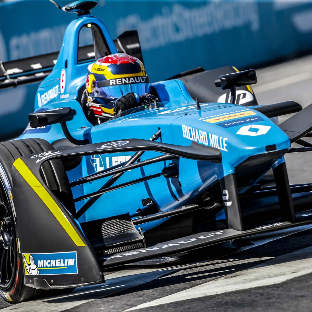 The Watch Quote: Photo - Richard Mille congratulates Sébastien Buemi on his victory in the Buenos Aires ePrix