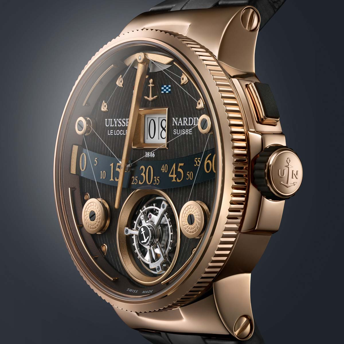 The Watch Quote: Photo - Ulysse Nardin Marine Grand Deck Tourbillon in rose gold