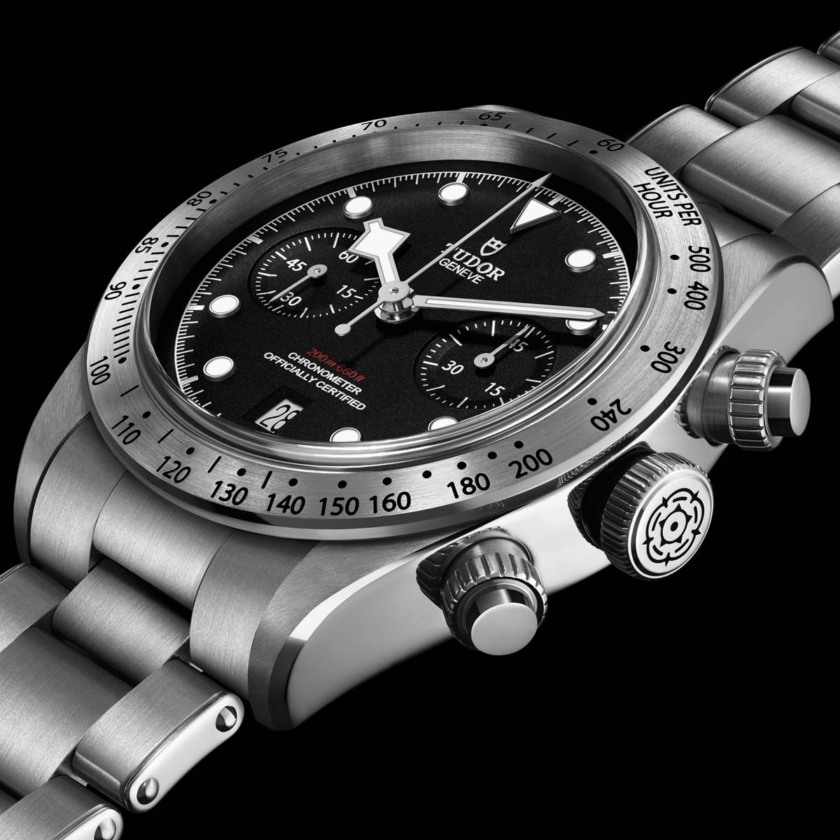 La Cote des Montres : Photo - Tudor Heritage Black Bay Chrono