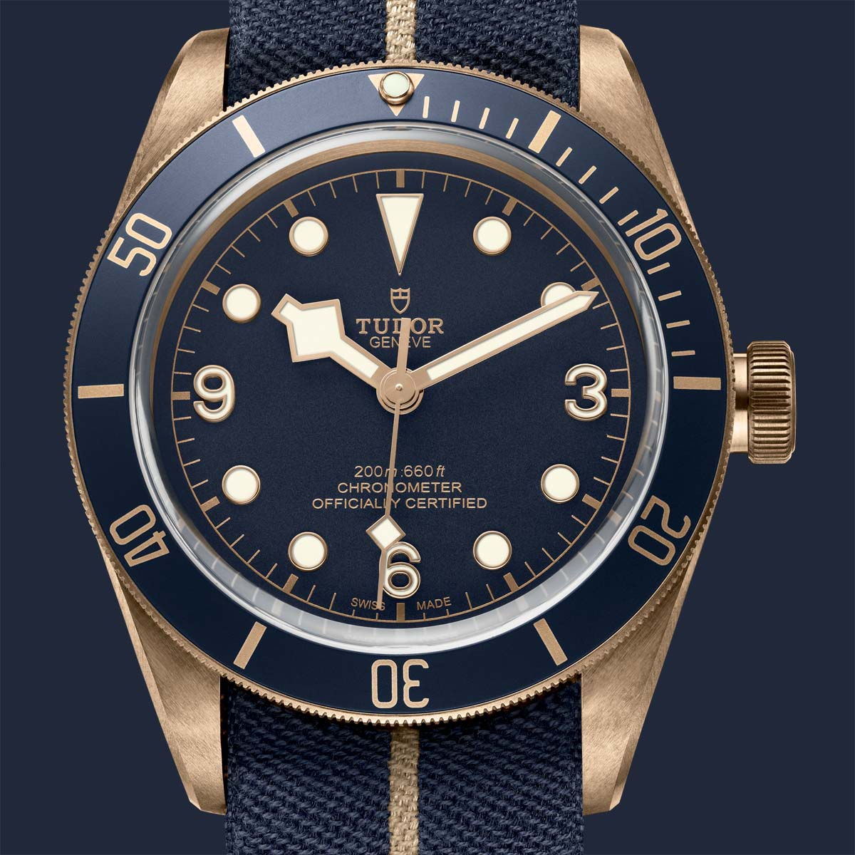 The Watch Quote: Photo - Bucherer unveils the Tudor Heritage Black Bay Bronze Blue