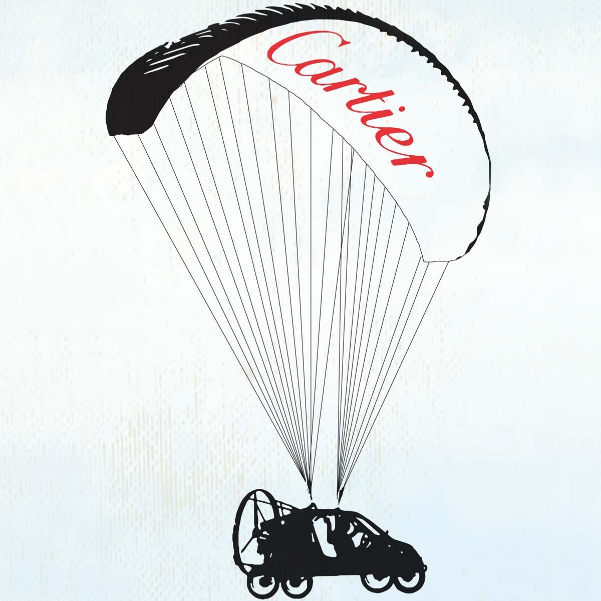 La Cote des Montres : Photo - Paris Londres en voiture volante avec Cartier