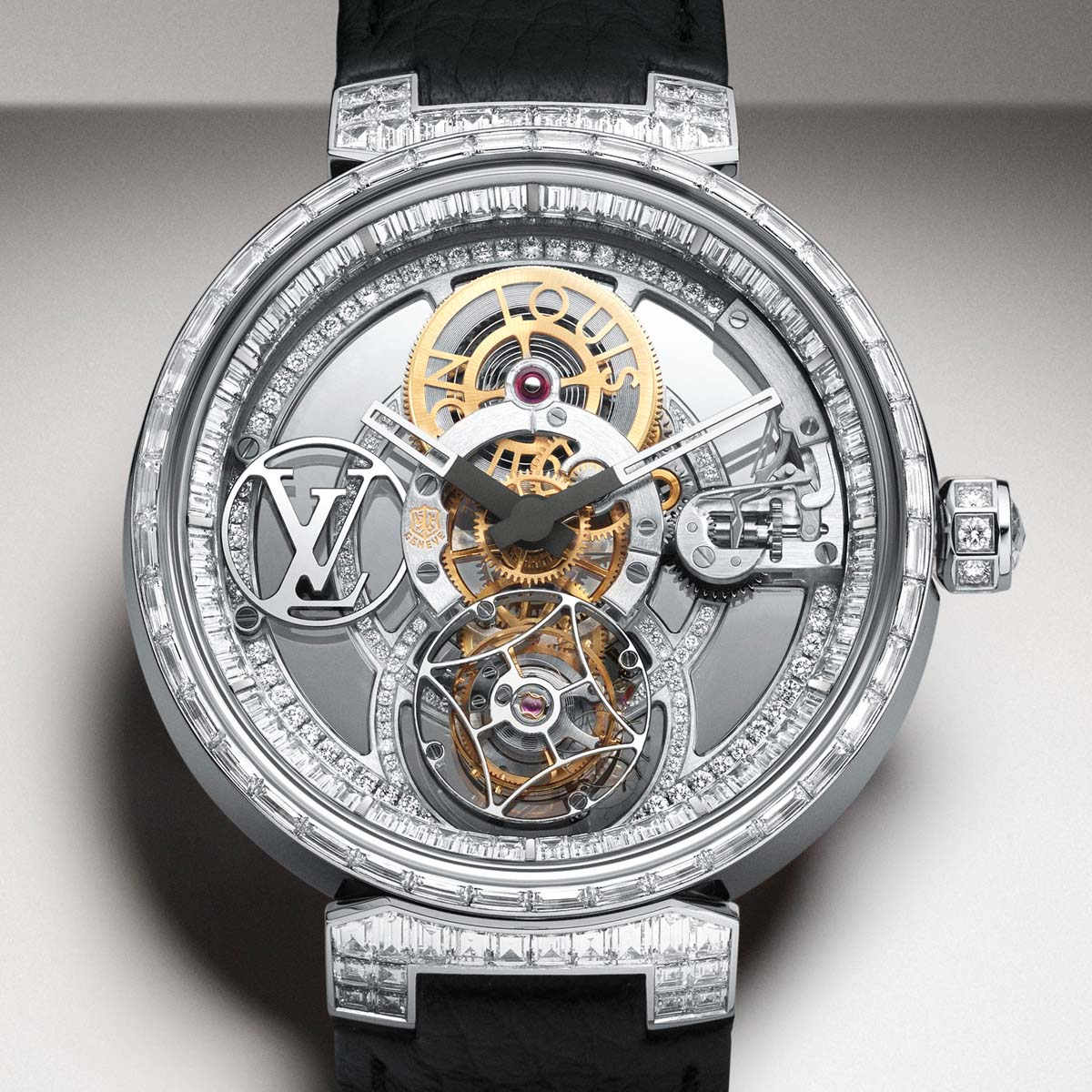 The Watch Quote: Photo - Louis Vuitton Tambour Moon Tourbillon Volant Poinçon de Genève Pavée