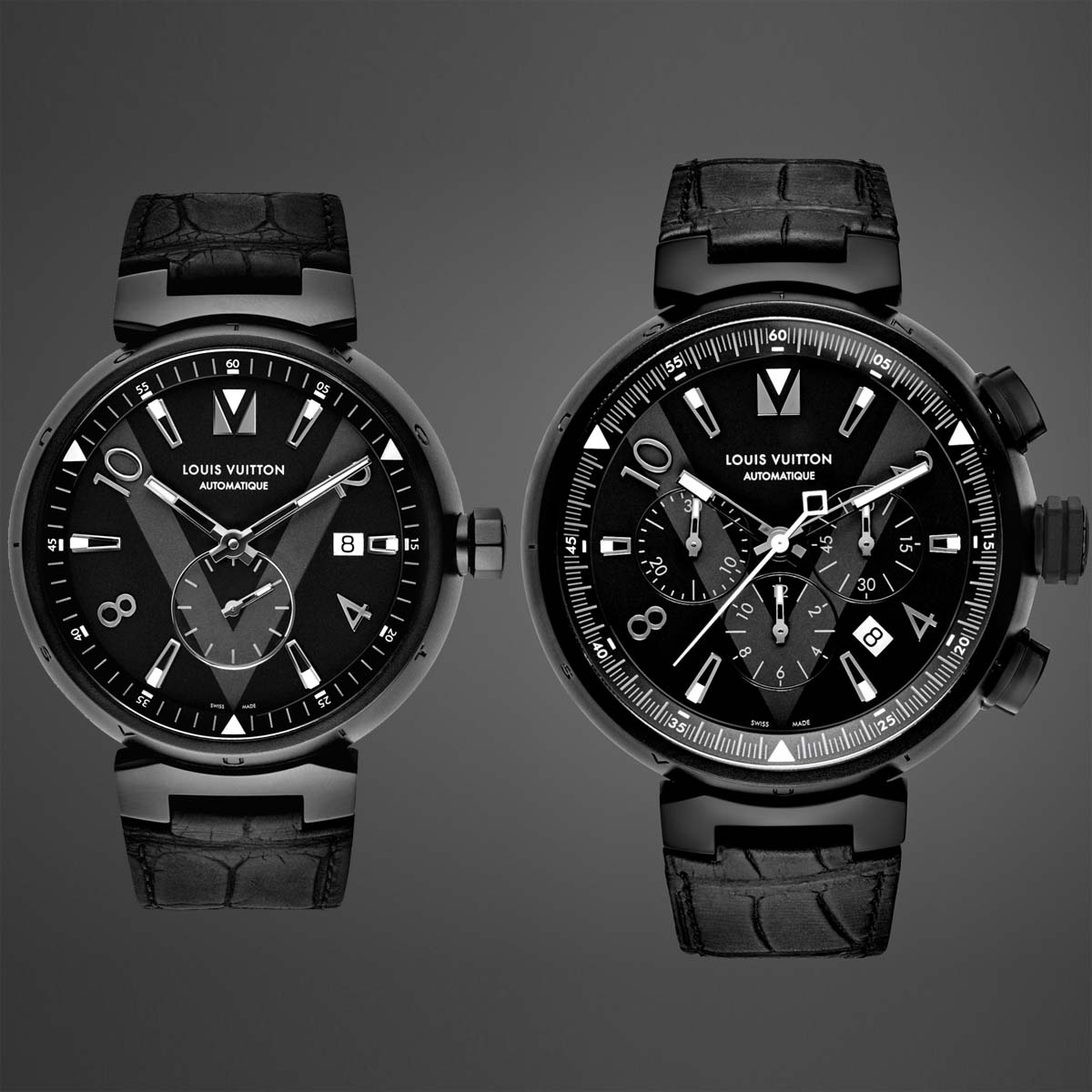 La Cote des Montres : Photo - Louis Vuitton Tambour All Black