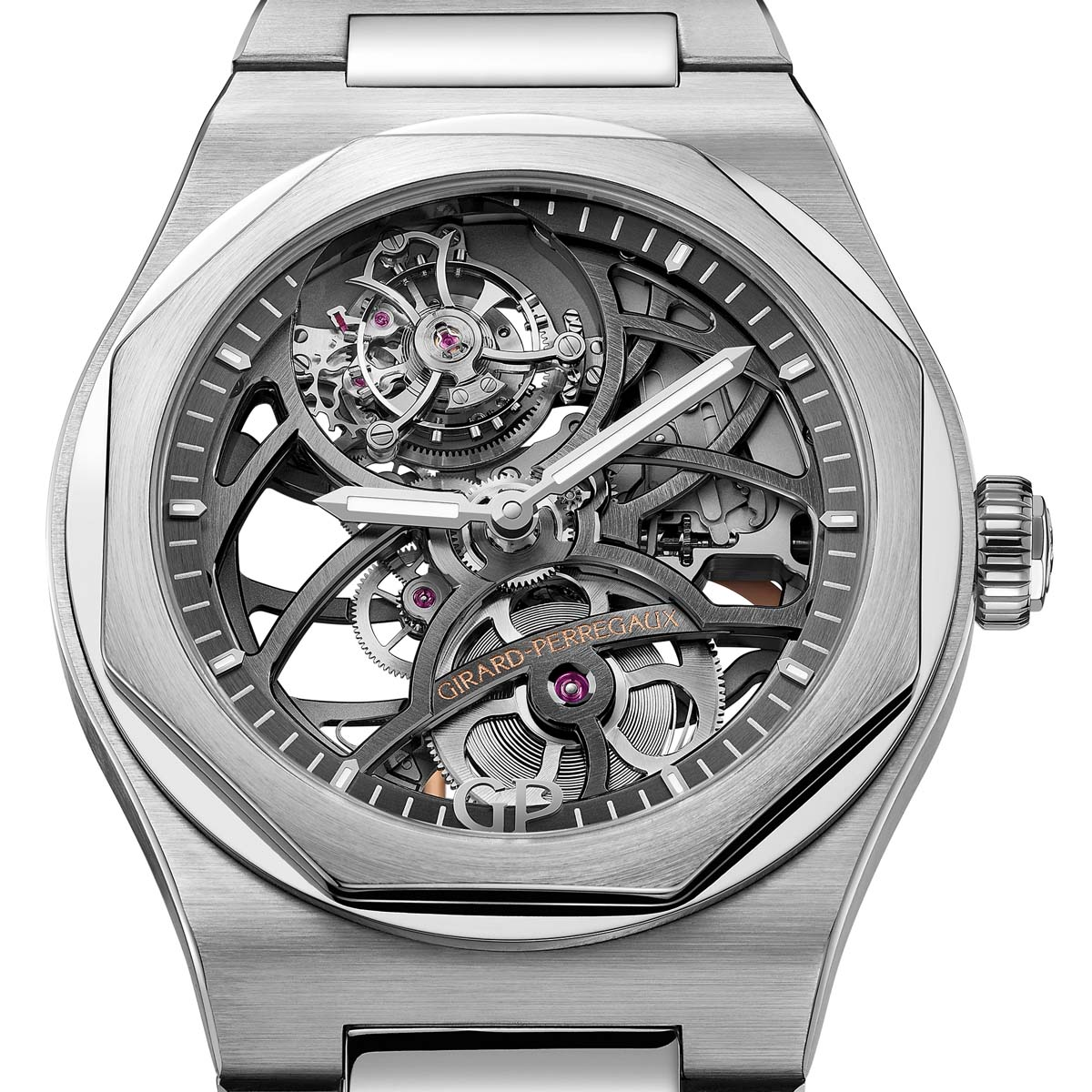 La Cote des Montres : Photo - Girard-Perregaux Laureato Flying Tourbillon Skeleton
