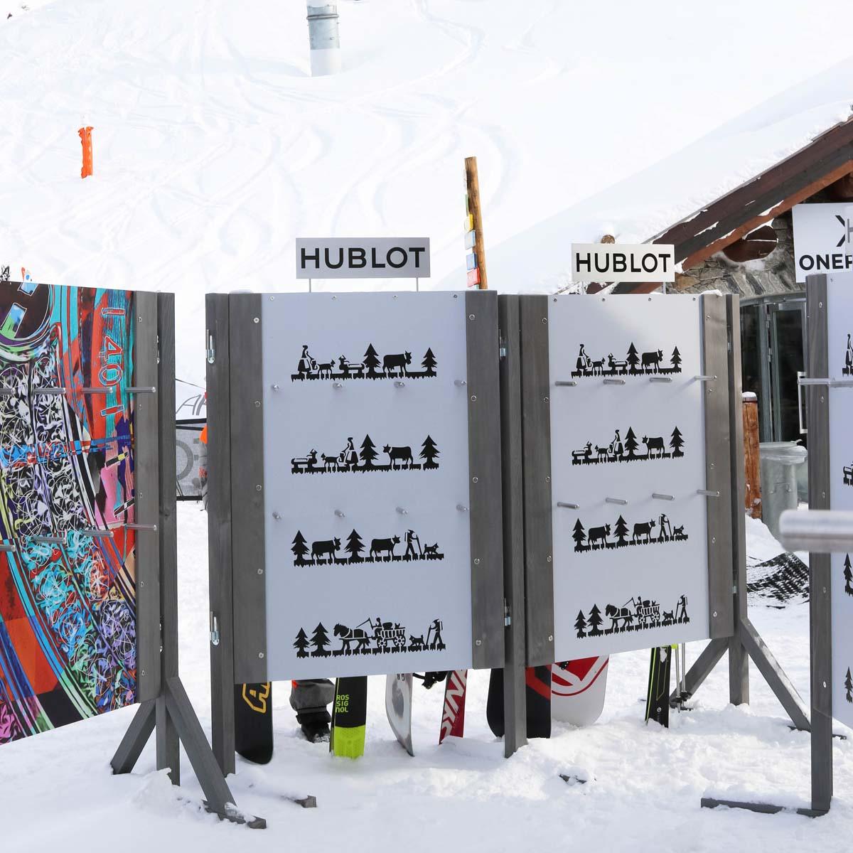 La Cote des Montres : Photo - Hublot devient le chronométreur officiel de La Folie Douce Méribel-Courchevel