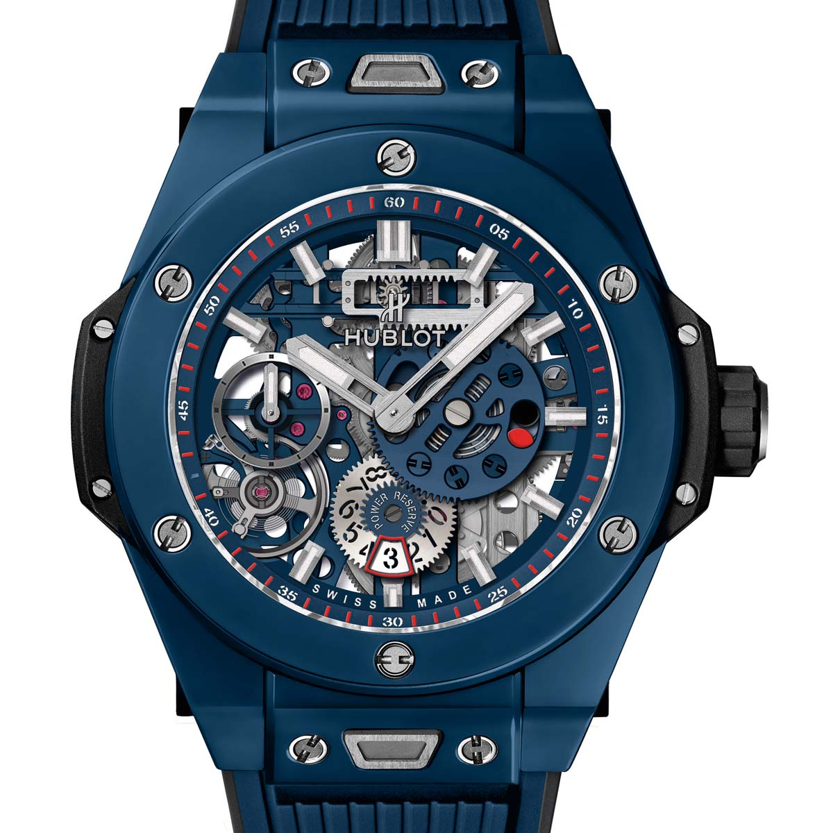 La Cote des Montres : Photo - Hublot Big Bang Meca-10 Blue Ceramic