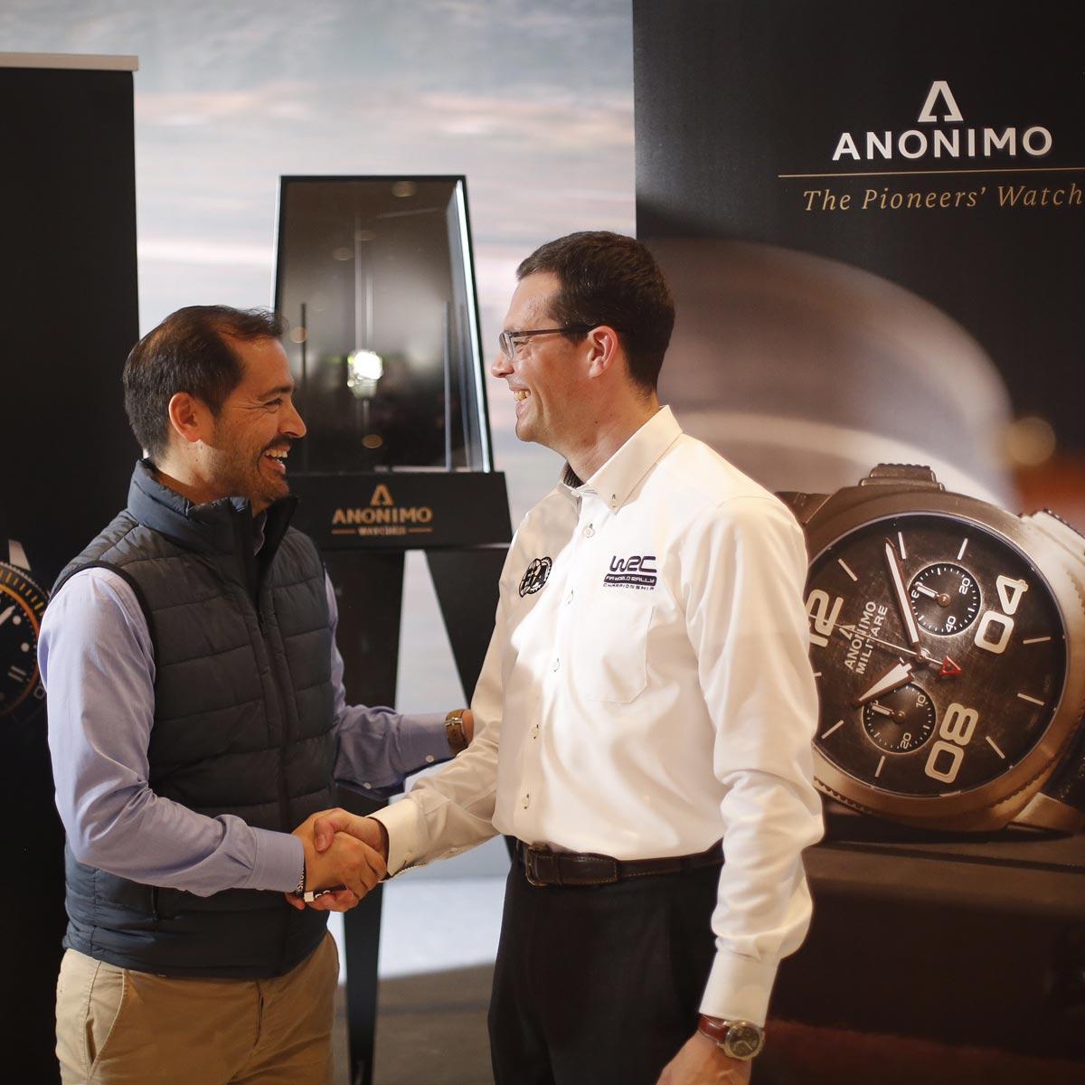 La Cote des Montres : Photo - Anonimo devient chronométreur officiel de WRC