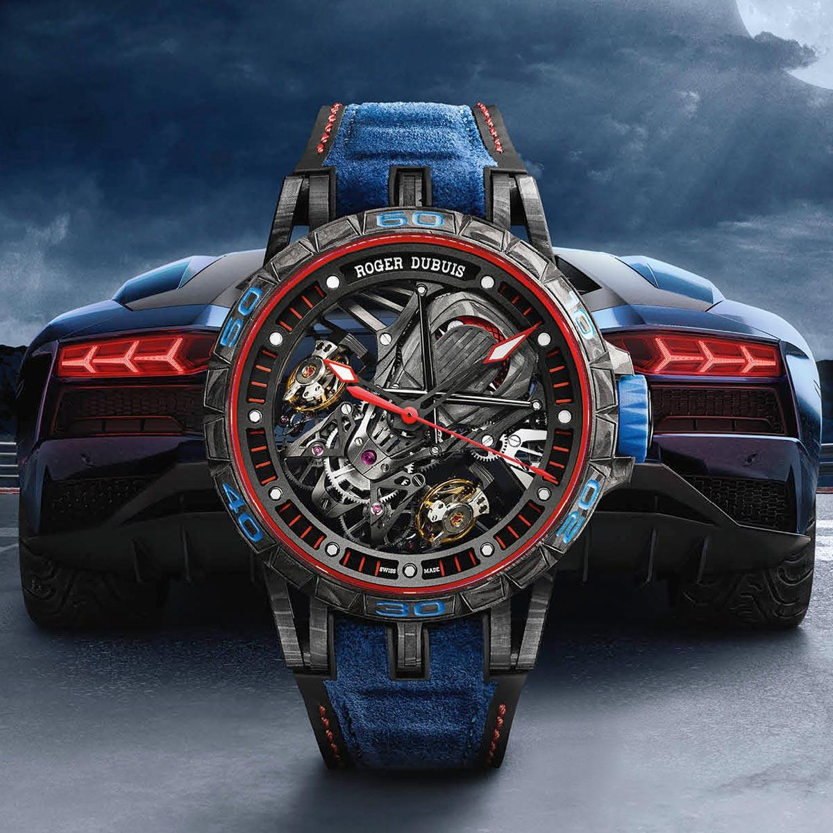 La Cote des Montres : Photo - Roger Dubuis Excalibur Aventador S Blue