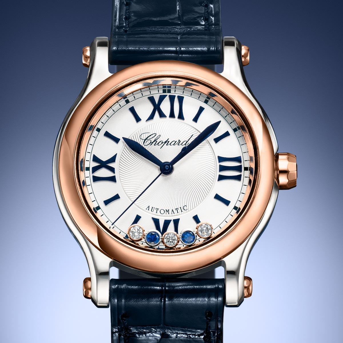 La Cote des Montres : Photo - Chopard Happy Sport Bucherer Blue Editions Bicolore
