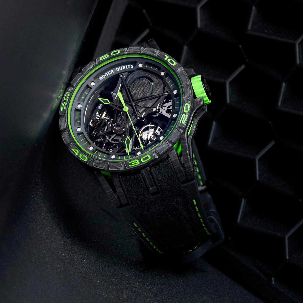 The Watch Quote: Photo - Roger Dubuis Excalibur Aventador S Green