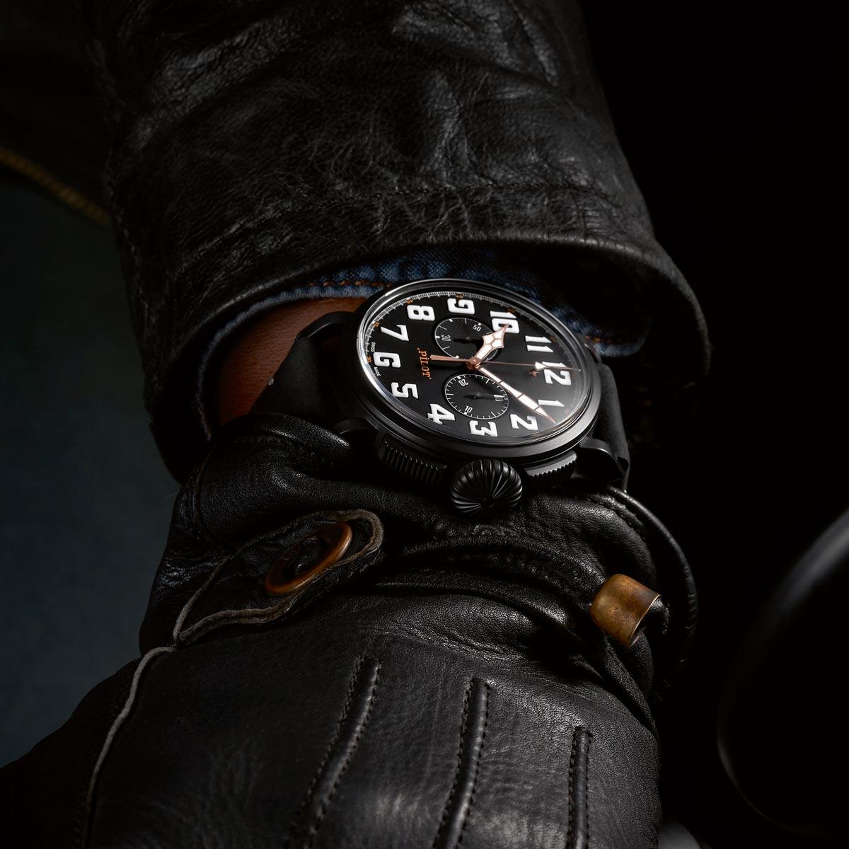 La Cote des Montres : Photo - Zenith Pilot Type 20 Chronograph Ton Up Black
